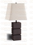 Set of Two Cappuccino Finish Table Lamps by Coaster - 900739