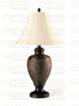 Set of Two Antique Gold Finished Table Lamps by Coaster - 901102