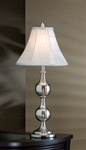 Brushed Steel Finish Table Lamp by Coaster - 901130