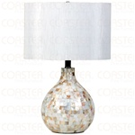 Pearl and White Table Lamp by Coaster - 901183