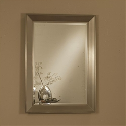 Silver Frame Accent Mirror by Coaster - 901701