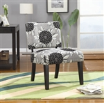 Big Flowers Fabric Accent Chair by Coaster - 902050