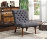 Charcoal Grey Linen Like Fabric Accent Chair by Coaster - 902217