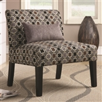 Geometric Pattern Fabric Accent Chair by Coaster - 902234