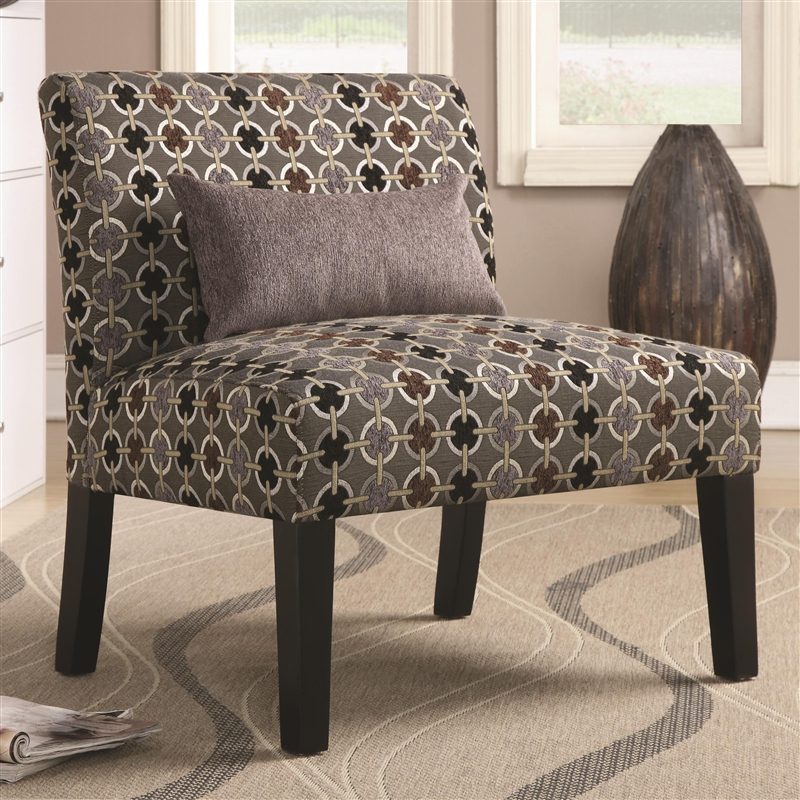 Geometric Pattern Fabric Accent Chair By Coaster 902234