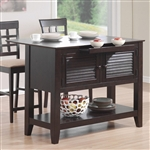 Kitchen Island Cappuccino Finish by Coaster - 910014