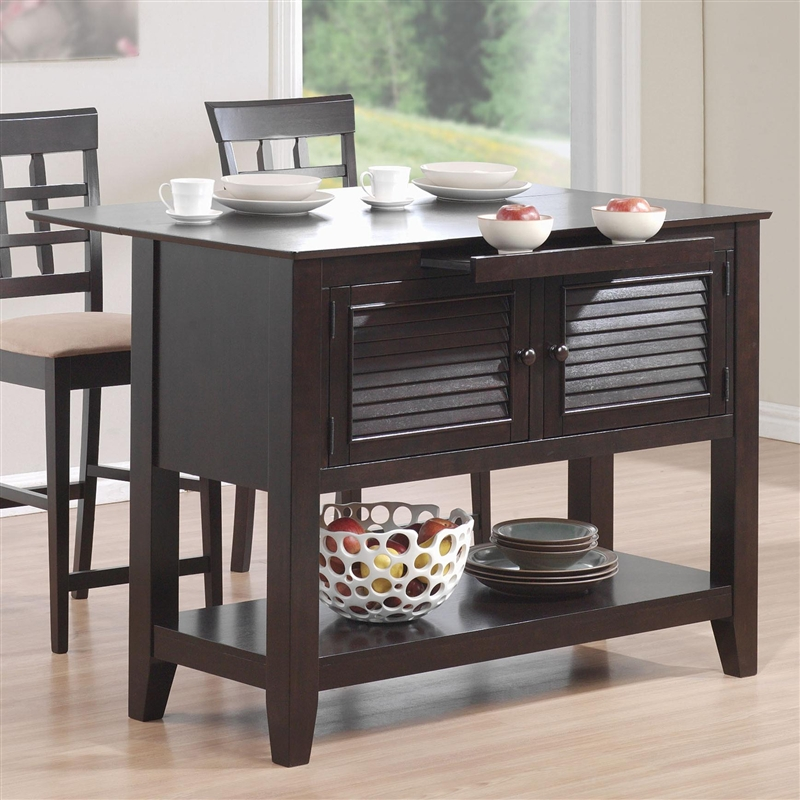 Kitchen Islands Add Beauty Function And Value To The: Kitchen Island Cappuccino Finish By Coaster