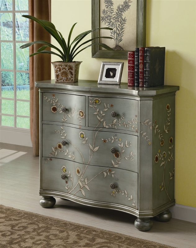 Hand Painted Accent Cabinet by Coaster - 950121