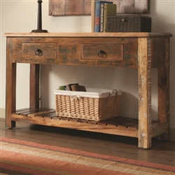 Accent Console Table in Reclaimed Wood Finish by Coaster - 950364