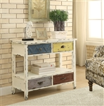 Accent Cabinet in Antique White Finish by Coaster - 950545