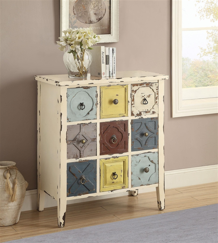Accent Cabinet In Antique White Finish By Coaster 950546