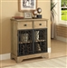 Accent Cabinet in Raw Wood Finish by Coaster - 950547