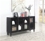 Accent Cabinet in Greyish Black Vintage Finish by Coaster - 950780