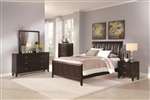 Coventry 6 Piece Bedroom Set in Dark Brown Finish by Coaster - B180