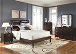 Calvin 6 Piece Bedroom Set in Cappuccino Finish by Coaster - B205