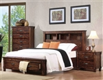 Noble Storage Bookcase Bed in Rustic Oak Finish by Coaster - B219-20-B