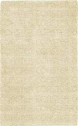 100% NEW ZEALAND WOOL 5' x 8' IVORY CASUAL SHAG RUG by Coaster - PR1001M