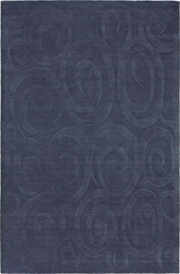 100% WOOL DARK BLUE MEDIUM 5' x 8' CASUAL RUG by Coaster - PR1007M