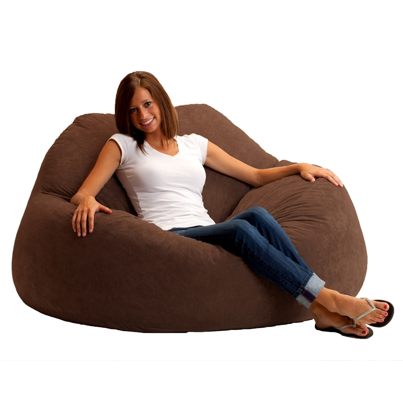 Fuf Chillum Bean Bag Loveseat In Comfort Suede Fabric By Comfort Research    0004