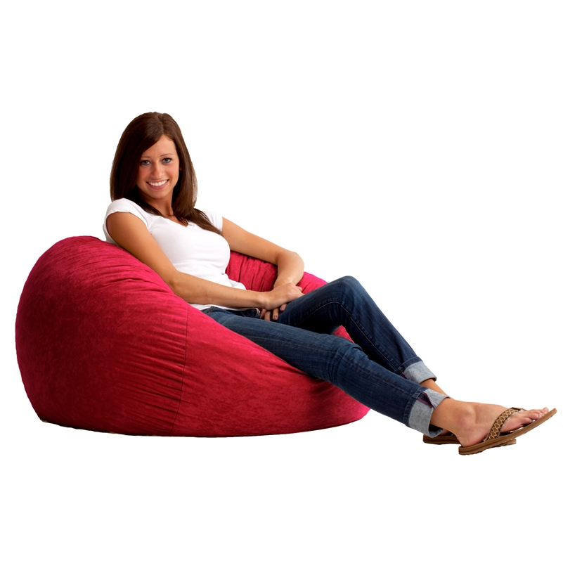 3' Fuf Bean Bag Chair in Comfort Suede Fabric by Comfort Research - 0030 - 3' Fuf Bean Bag Chair In Comfort Suede Fabric By Comfort Research