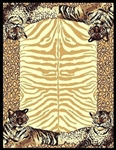 African Tiger Border 5 x 8 Rug by CTC - CTC-AF-TigerBorder