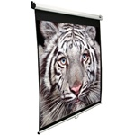 Elite Manual Series 50x67 (84 Diag.) Pull down Projector Screen, Video Format, Matte White Fabric