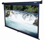 Manual Series 41x73 (84Diag),  Wall/ Ceiling Projection Screen, HDTV Format, Matte White Fabric