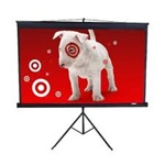"Tripod Portable Projection Screen 65"" x 83"" - Matte White - 100"" Diagonal"