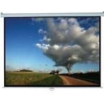 "Manual Wall and Ceiling Projection Screen 83"" x 83"" -White Case- Matte White - 113"" Diagonal"