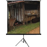 "Manual Projection Screen 45.6"" x 73"" - Max White - 86"" Diagonal"