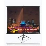 "Tripod Portable Projection Screen 99"" x 99"" -Black Case- Matte White - 136"" Diagonal"