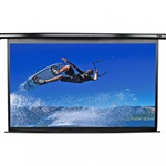 "VMAX2 Electric Projection Screen 74"" x 131""- MaxWhite- Black Casing - 150"" Diagonal"