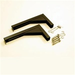 Extended Wall/Ceiling L Brackets (Black)