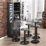 Galvan 5 Piece Bar Table Set by Furniture of America - FOA-CM-BT8334