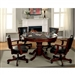 Portia 5 Piece Game Table Set in Chestnut by Furniture of America - FOA-CM-GM340T