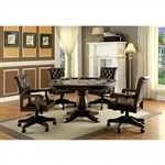 Kalia 5 Piece Game Table Set in Brown by Furniture of America - FOA-CM-GM347T