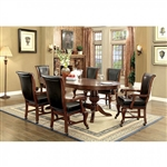 Melina 7 Piece Game Table Set in Brown Cherry by Furniture of America - FOA-CM-GM367CH-T