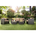 Olina 5 Piece Patio Set in Espresso by Furniture of America - FOA-CM-OS1820BR