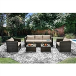 Olina 5 Piece Patio Set in Ivory by Furniture of America - FOA-CM-OS1820IV