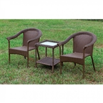Arimo 3 Piece Patio Set in Espresso by Furniture of America - FOA-CM-OT1812-3PK