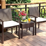Priya 3 Piece Patio Set in Brown by Furniture of America - FOA-CM-OT1815-3PK