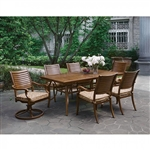 Desiree 7 Piece Patio Dinning Table Set in Brown by Furniture of America - FOA-CM-OT2126