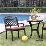 Jessa 3 Piece Round Patio Set in Antique Brass by Furniture of America - FOA-CM-OT2129-T