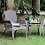 Juno 3 Piece Patio Seating Set in Gray by Furniture of America - FOA-CM-OT2130