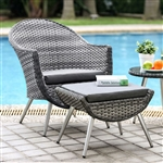 Leena 3 Piece Patio Seating Set in Gray by Furniture of America - FOA-CM-OT2132