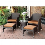 Almada 3 Piece Patio Chair Set in Espresso by Furniture of America - FOA-CM-OT2550-T