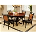 Salida I 5 Piece Round Table Dining Room Set by Furniture of America - FOA-CM3034RT