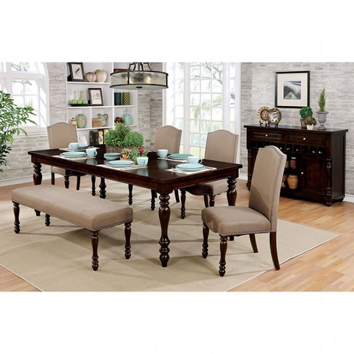 Hurdsfield 6 piece dining room set by furniture of america for Vs furniture america