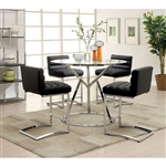 Livada II 5 Piece Counter Height Dining Set by Furniture of America - FOA-CM3170RPT-BK
