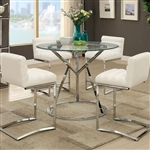 Livada II 5 Piece Counter Height Dining Set by Furniture of America - FOA-CM3170RPT